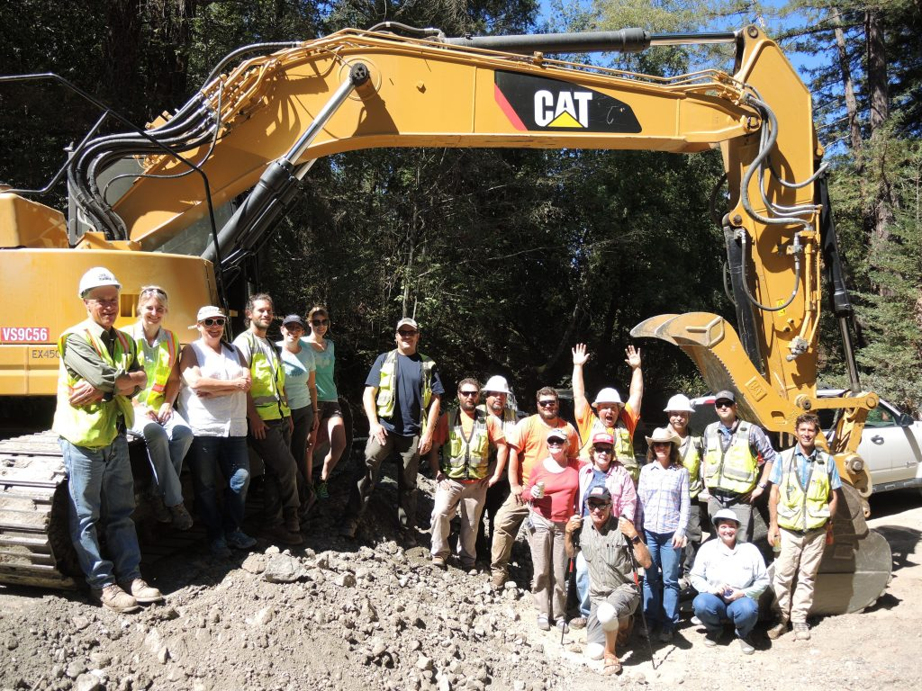 PCI team Mill Creek dam removal